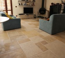 Floors in high end of Jerusalem stone Saint Tropez
