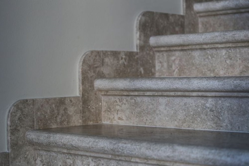Ancient marble stairs of Jerusalem